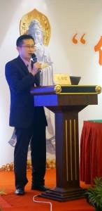 马来西亚佛教居士总会总秘书王书优博士主讲时影。