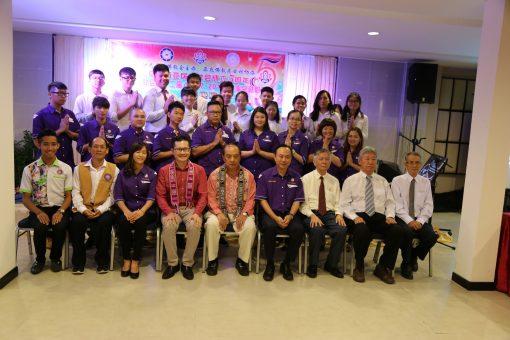 沙巴古达佛教会新届理事及青年团及少年团执委与来宾合照。